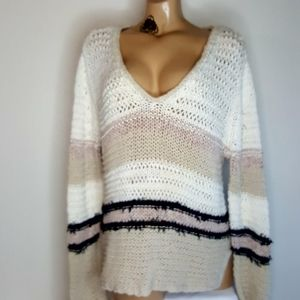 Rag & Bone lulu v neck loose knit sweater L